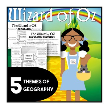 Wizard of Oz 5 Themes of Geography Worksheets and Activities