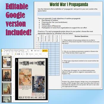 World War I Propagandaysis By Students Of History