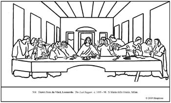the last supper coloring page # 6