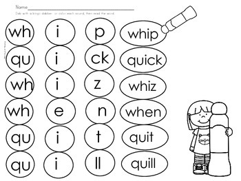 Qu Wh Spelling And Word Work Center Printables By 180
