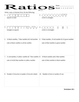 Ratios Worksheet