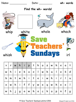 Wh Phonics Lesson Plans Worksheets And Other Teaching