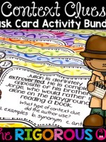 Context Clues Task Card Activity Bundle
