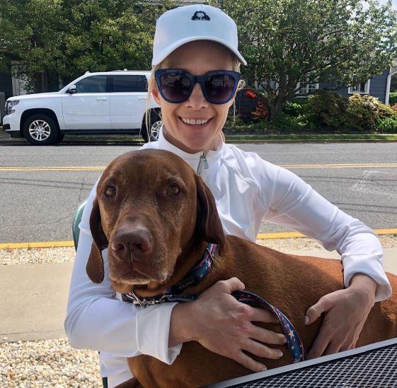 Dana Perino and her pet dog, Jasper