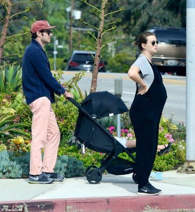 Leighton Meester spotted with baby bump in LA