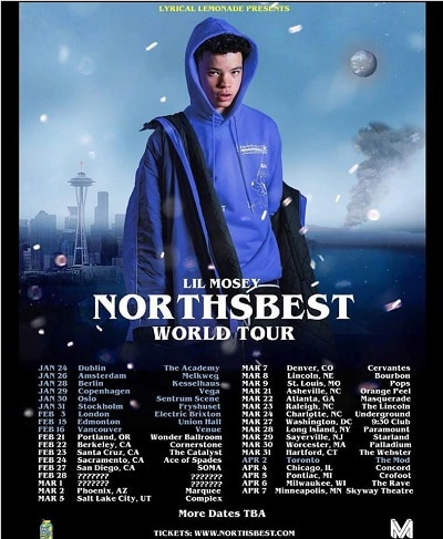 Lil Mosey tours