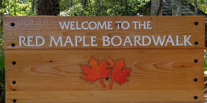 Red Maple Boardwalk sign