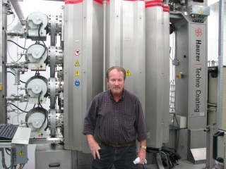 A recent picture of Tom in front of one of ECF's PVD machines.