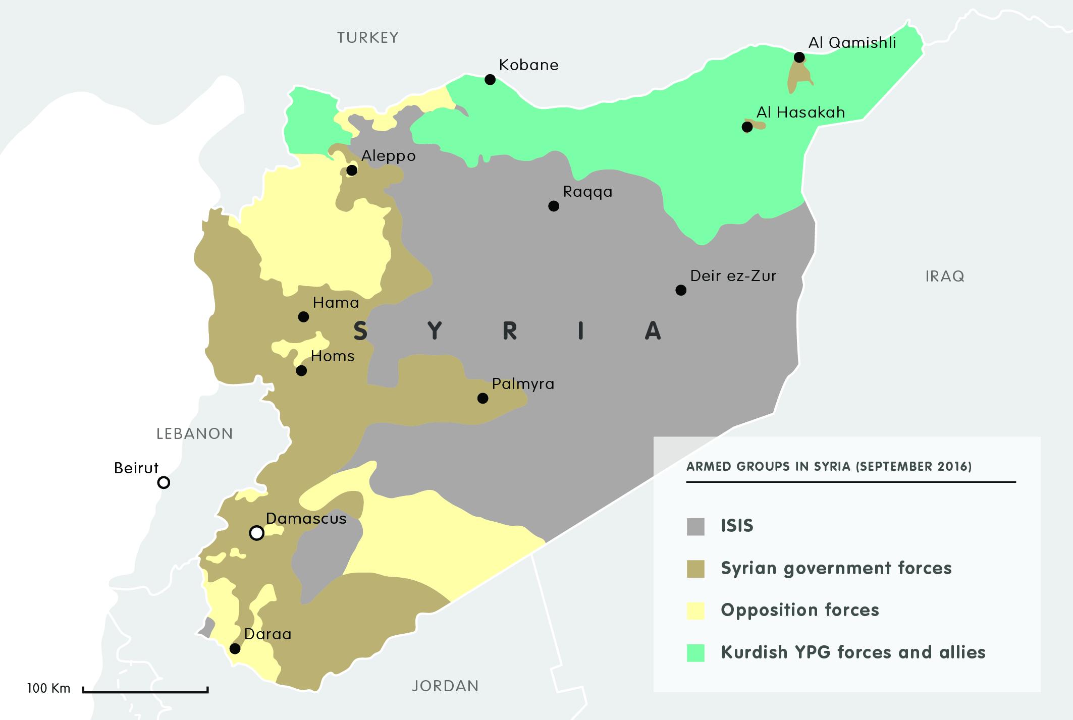 Armed groups in Syria (September 2016)