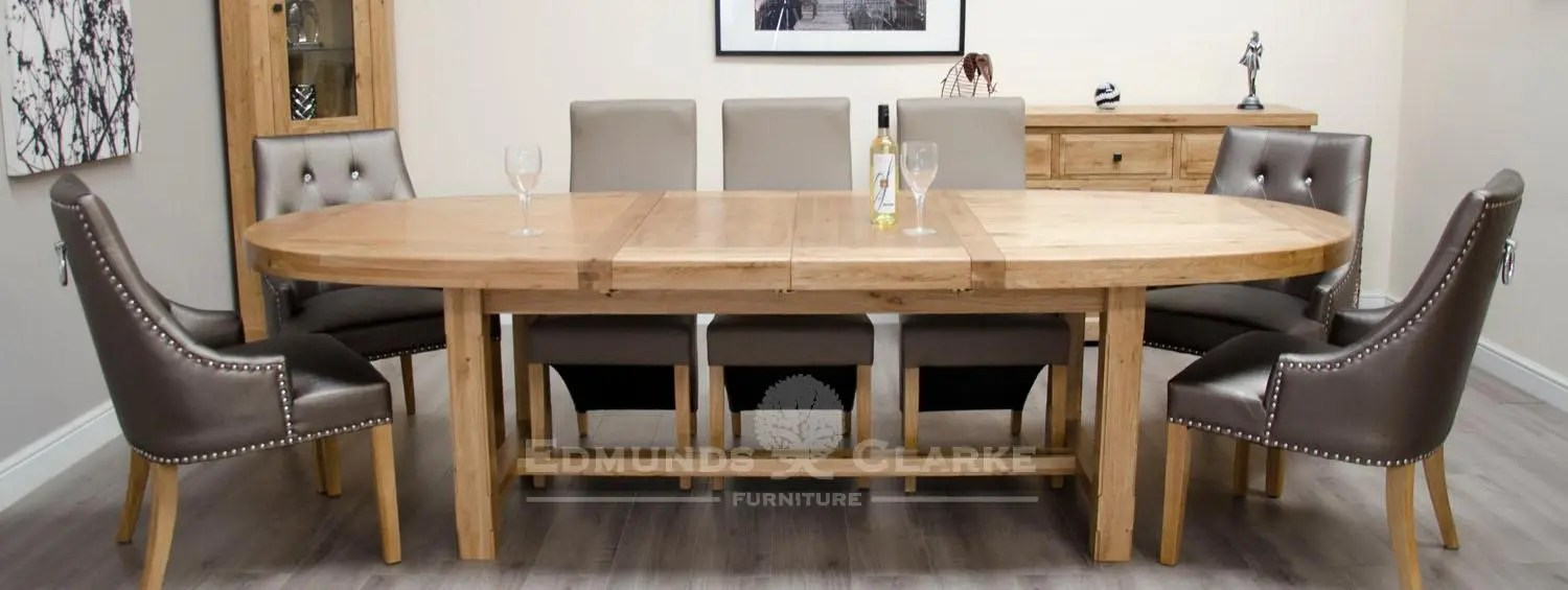 Amazing Solid Oak Large Oval Extending Dining Table Edmunds Clarke Ltd Home Interior And Landscaping Ologienasavecom
