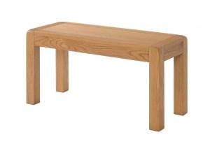 Avon oak 104cm medium dining table bench DAV042