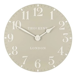 CK12055 Thomas Kent Wall Clock. colour Stone with cream hands and numbers