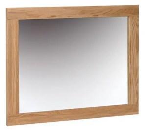 Norwich Oak Wall Mirror 75cm x 60cm. Shaker style clean lines. square oak frame. NNM20