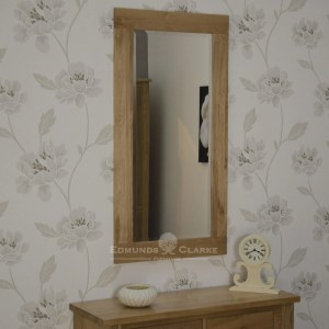 solidoak wall mirror - 115x60 Bevelled mirror glass in chunky oak frame