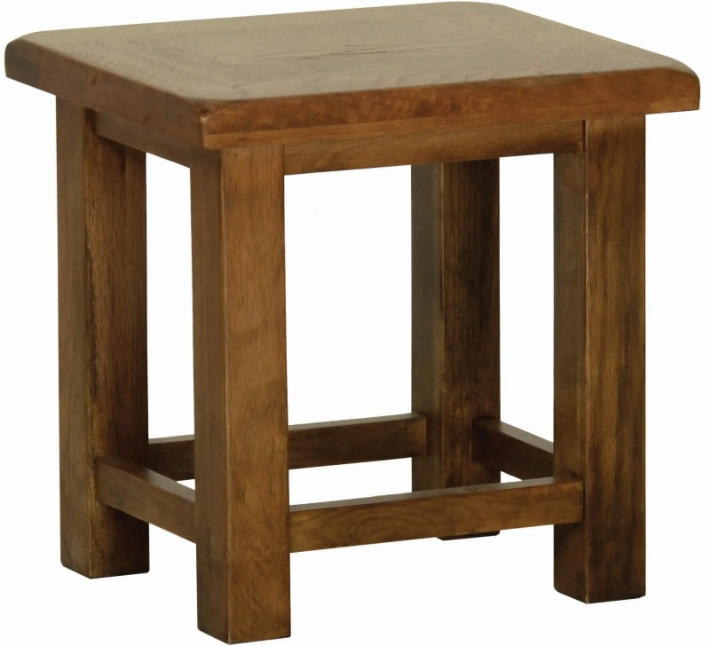 Sudbury Oak Side Table. Rustic shaker style with clean lines. SRT35