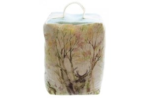 Voyage Doorstop DD120045 Enchanted Forest Footstool filled with scented lavender with contrasting blue linen top and handle