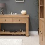 Hadleigh Solid Oak Hall Console Table Edmunds Clarke Furniture Ltd