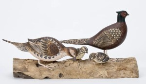 Archipelago Pheasant Block Wood Carving. D375