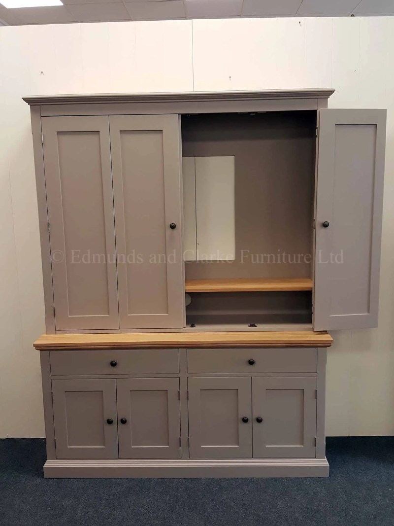 Edmunds painted media television cupboard available in a range of colours