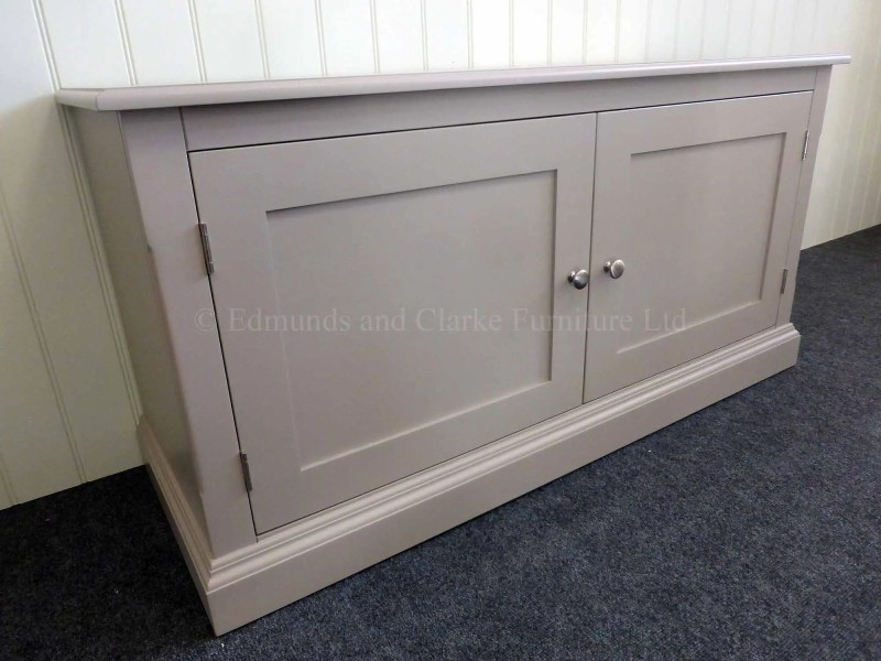Painted long low two door cupboard, choice of paint colours available