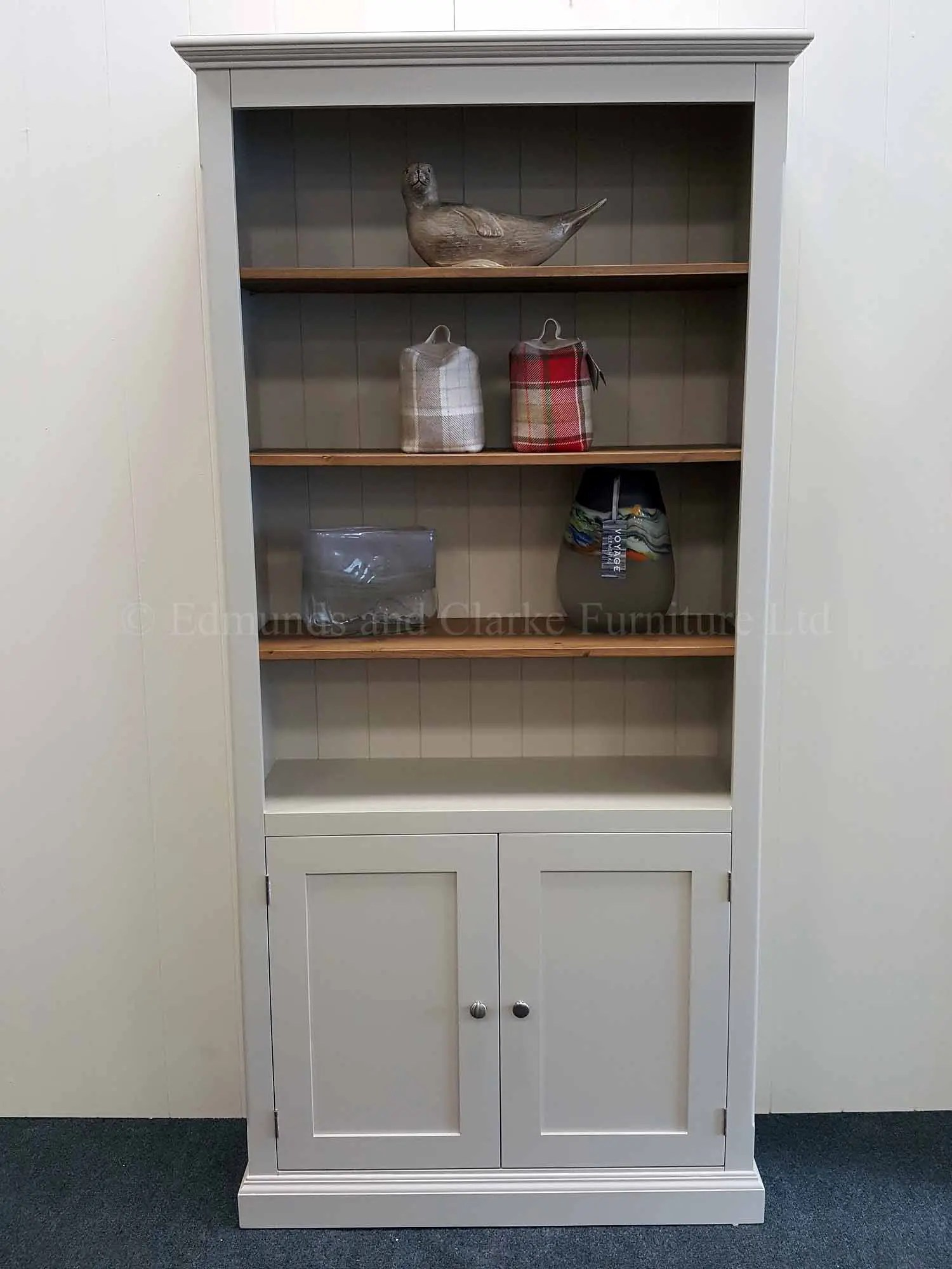 Painted Standard Depth Bookcases With Cupboard Edmunds