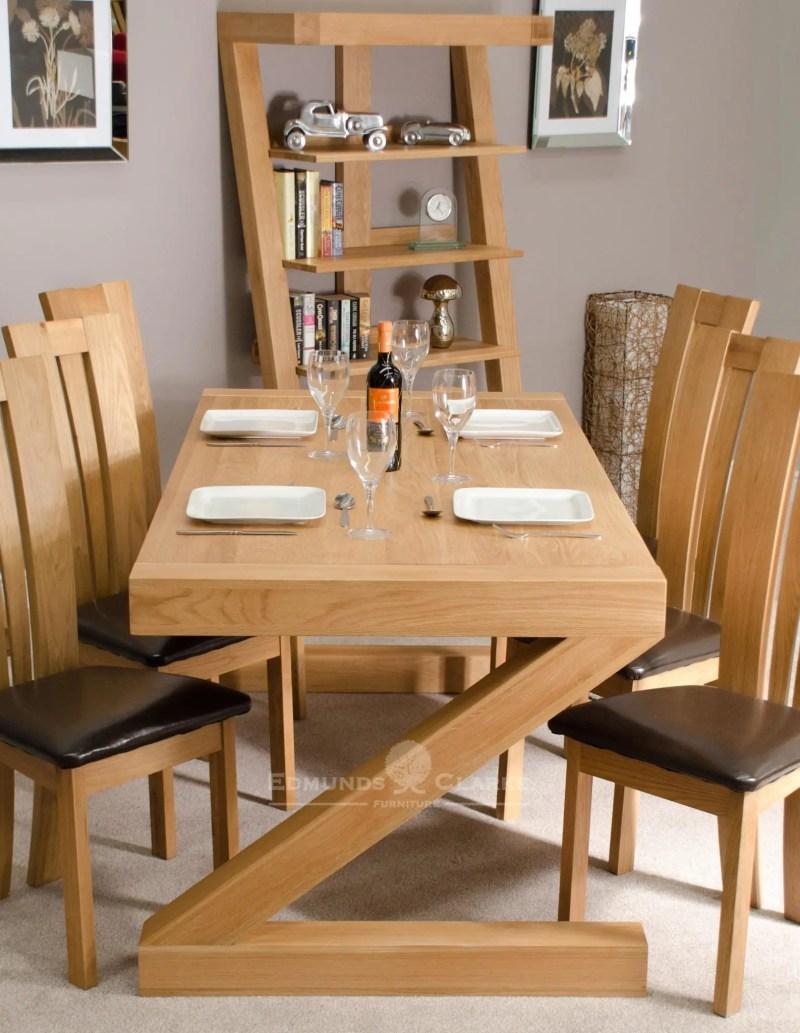 Z designer solid oak large dining table