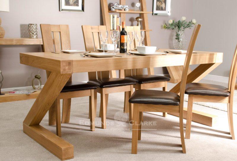 Z designer 180 x 90 solid oak dining table Z6X3T