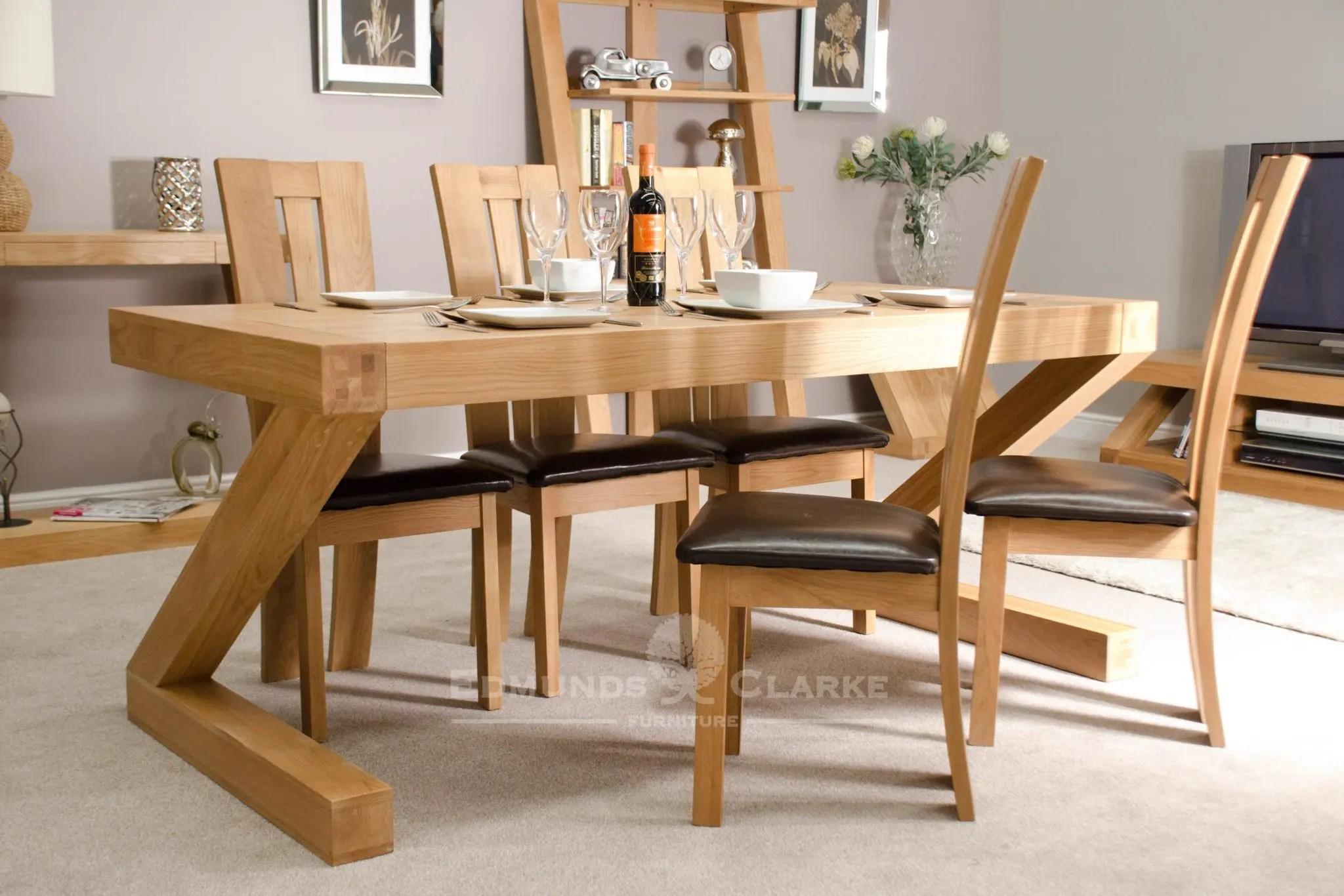 Edmunds and Clarke Furniture & Z Designer Solid Oak Large Dining Table