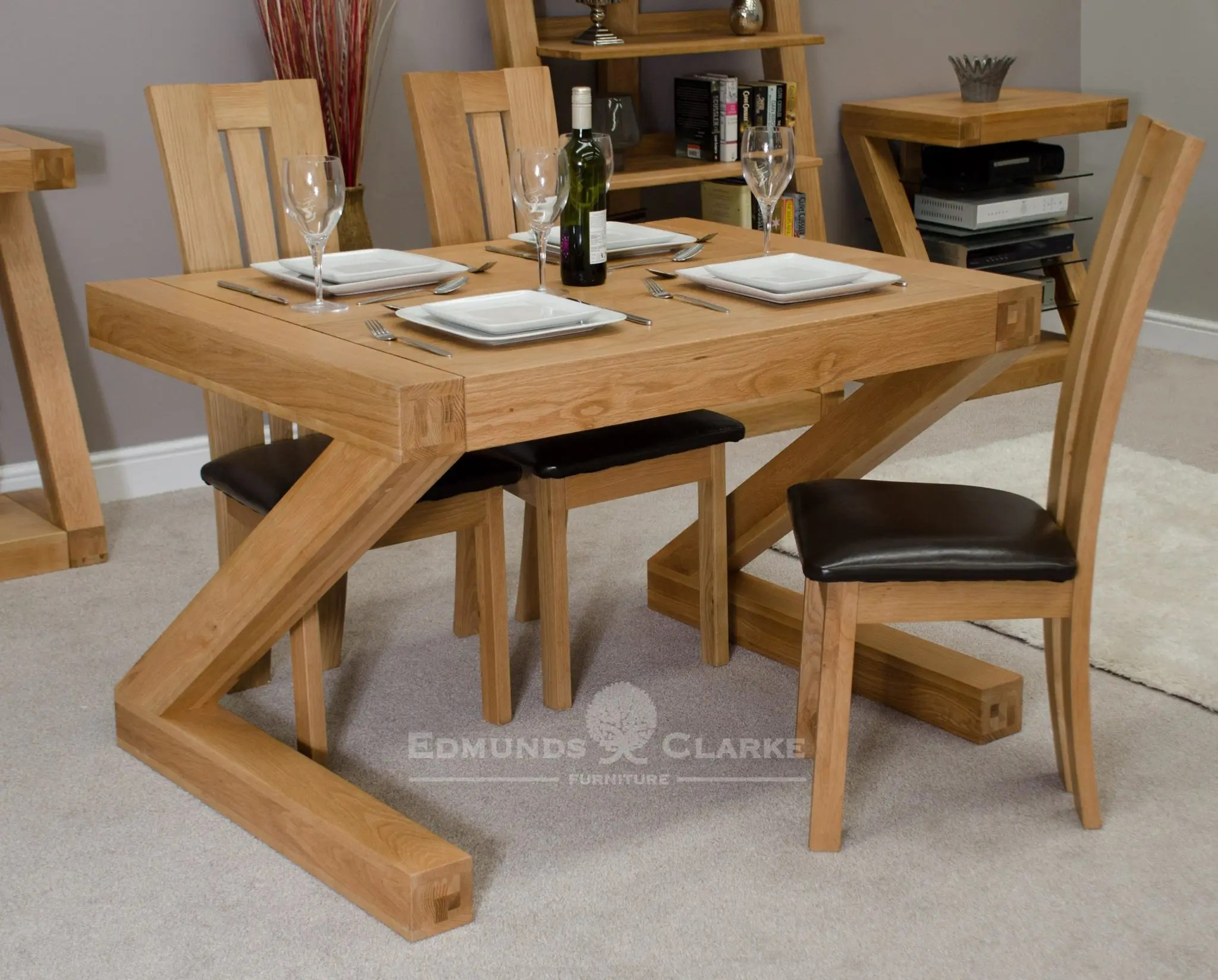 Magnificent Z Designer Solid Oak Small Dining Table Home Interior And Landscaping Ologienasavecom