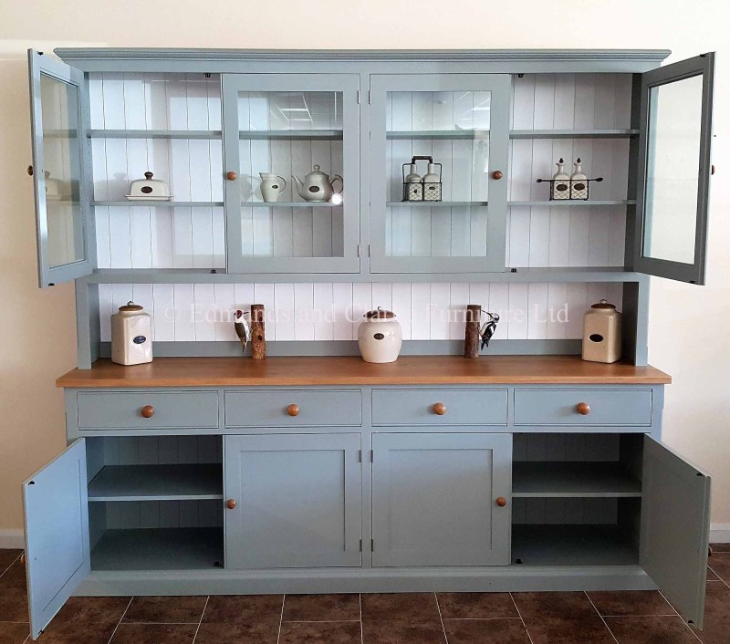 8ft painted half glazed dresser choice of paint colours /tops/handles