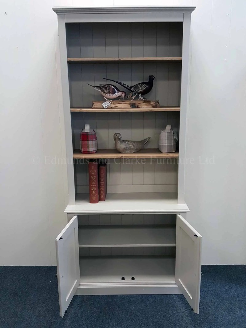 Edmunds two door library bookcase painted in a choice of colours