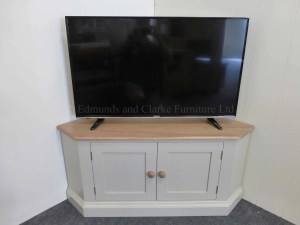 Edmunds Painted Large Corner Tv Stand