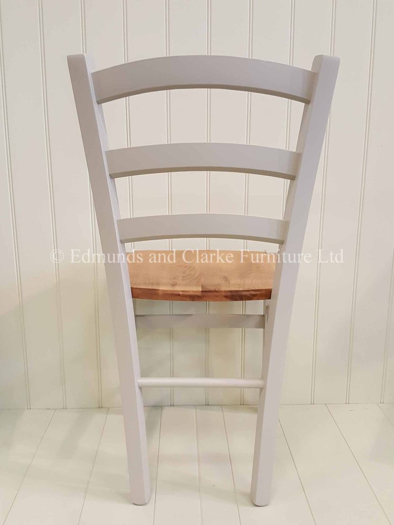 Painted Liege dining chair with natural wooden seat