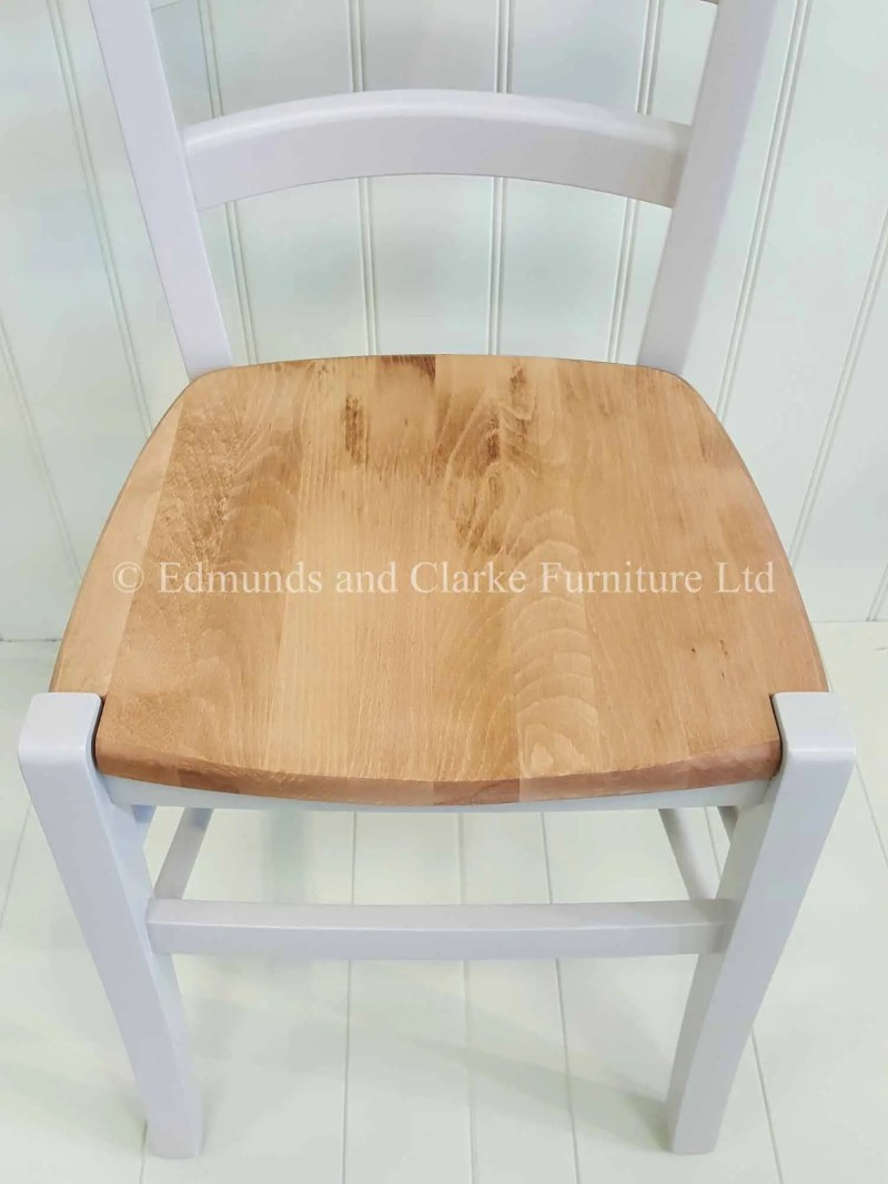 Lightweight Edmunds Liege dining chair, choice of paint colours available