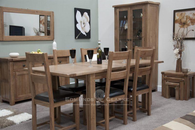 Lavenham rustic oak dining set