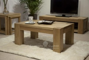 Newmarket solid oak living room set