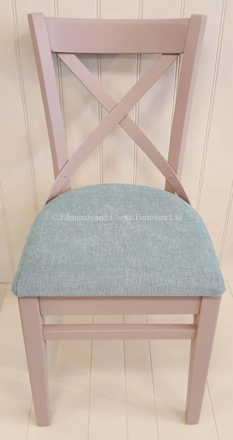 Oxford painted dining chair available with choice of fabric seats