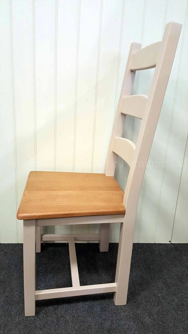 Amish side chair painted with wooden seat
