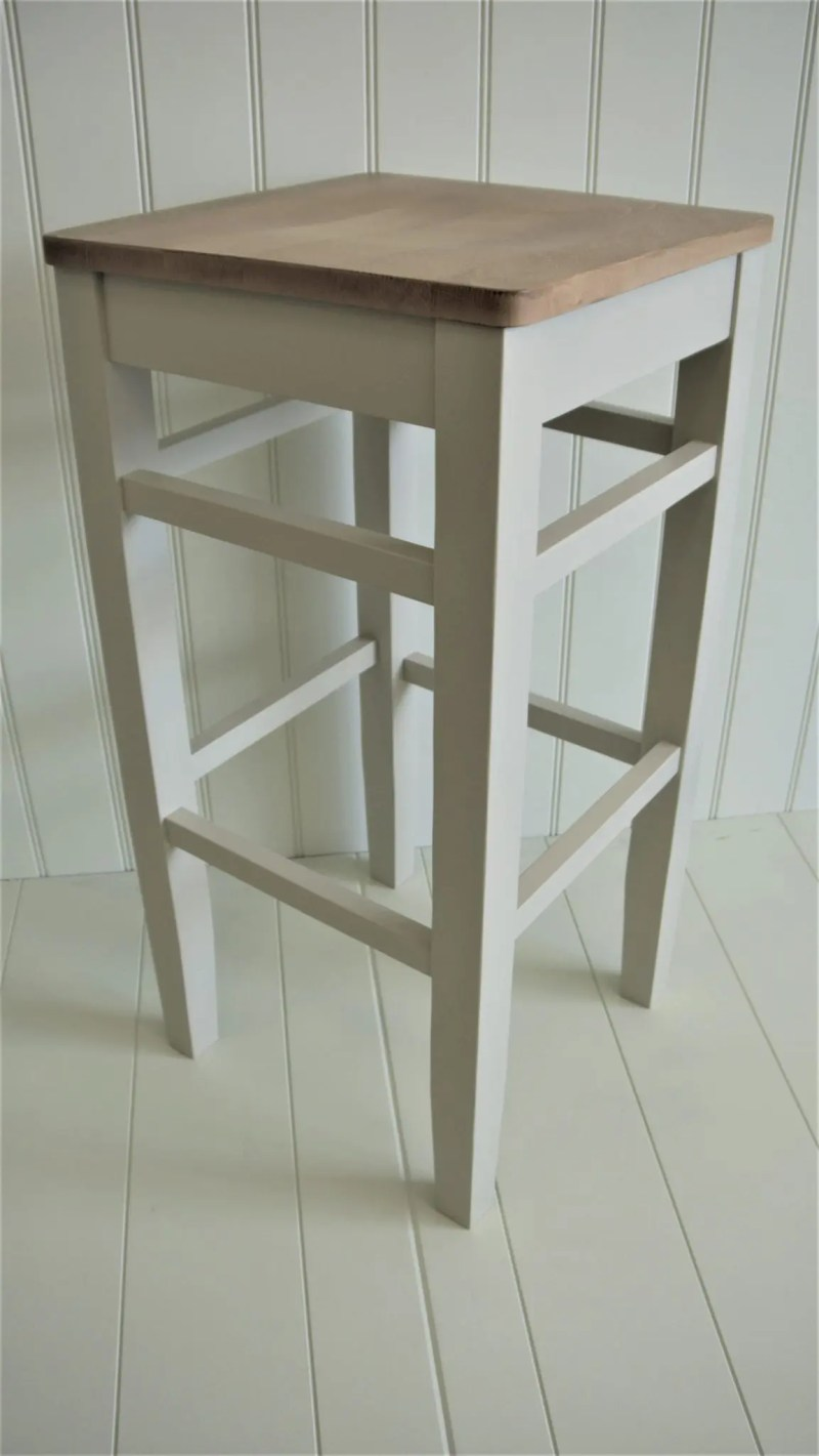 Clarke painted high stool
