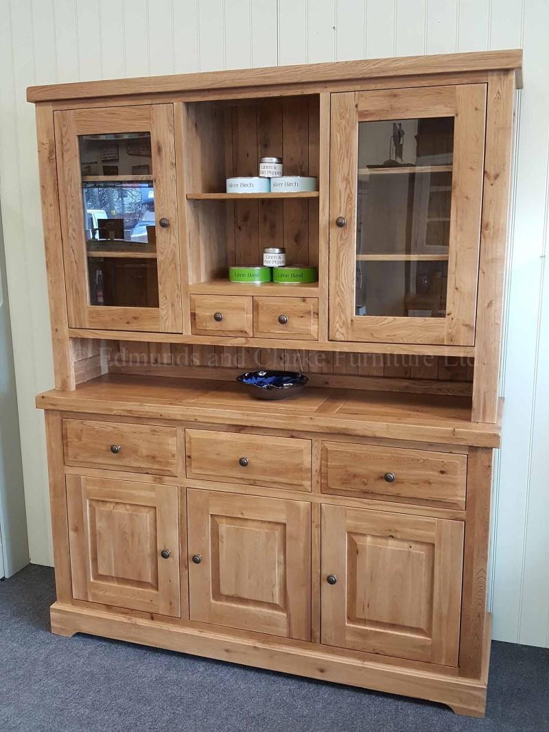 Complete solid oak dresser