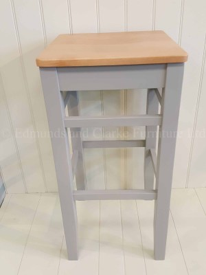 High clarke stool painted with oak seat. available in 10 colours. great for breakfast bars or kitchen islands