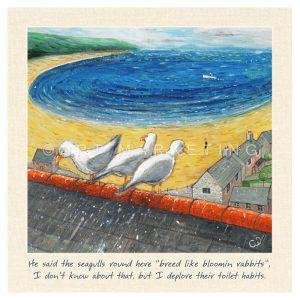 AC1336 Seagulls small canvas