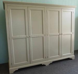 Painted 4 Door Low Eaves wardrobe