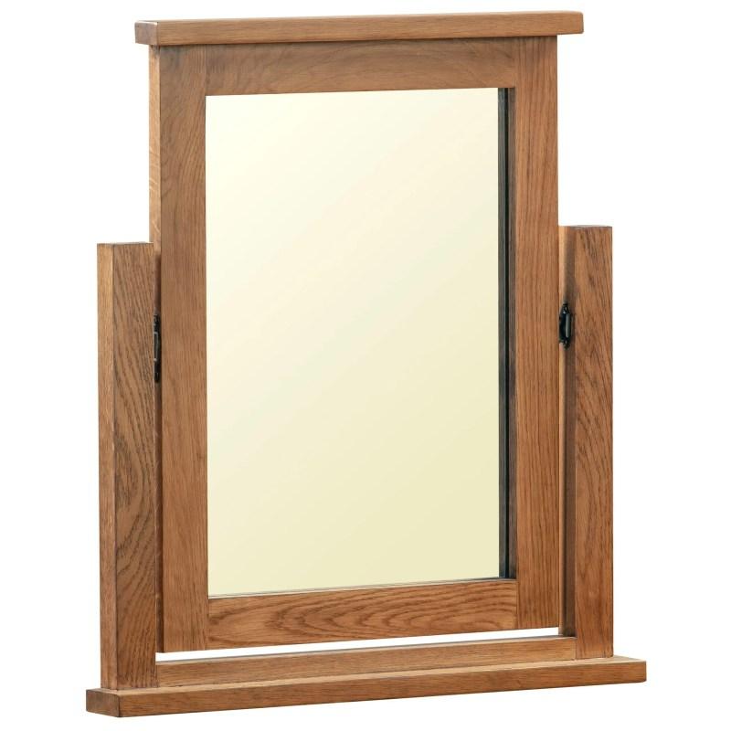 DOR023R dorset rustic oak dressing table mirror