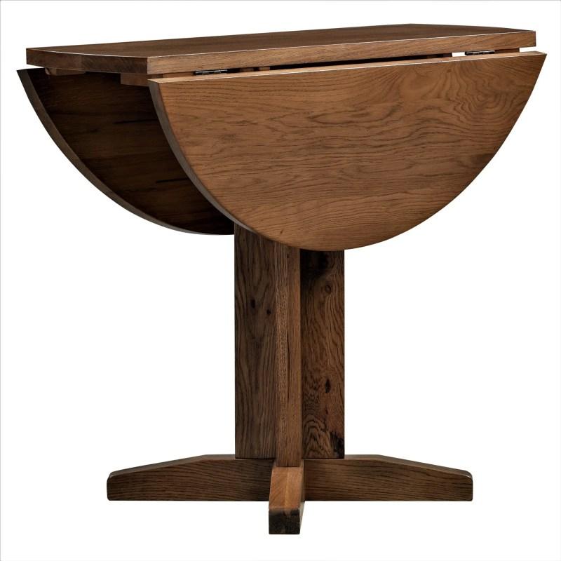 DOR089R Dorset rustic oak Drop leaf dining table V1