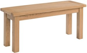 Dorset 104cm kitchen dining bench light oak shaker style