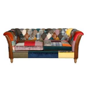 Rutland patchwork 2 seater sofa harlequin patchwork