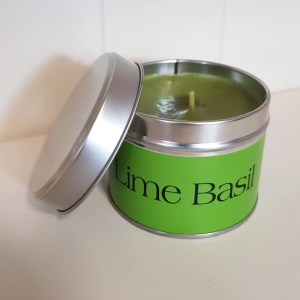 Pintail Candles Lime Basil Small Single Wick Candle in a Green Tin