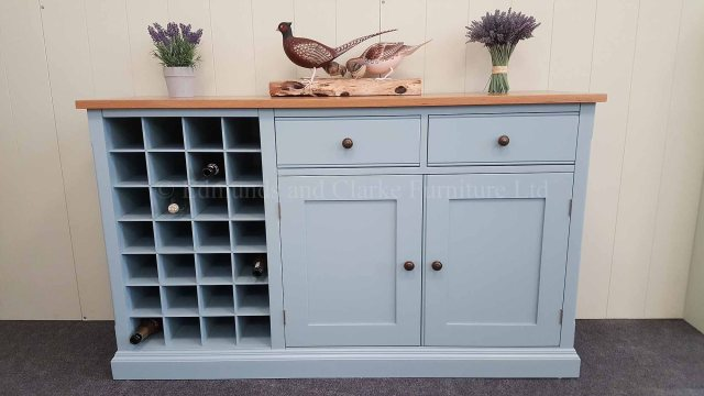 Painted Sideboard With Wine Rack