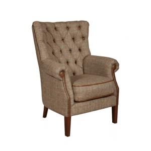 vintage sofa company hexham harris tweed chair with cerato leather